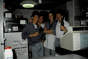 Ken Hughes working in a restaurant when he was a teenager