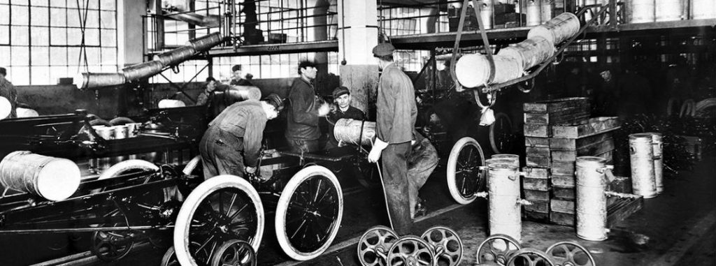 Workers Ford first car